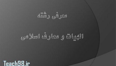 معرفي رشته-الهيات و معارف اسلامي