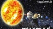 آموزش درس منظومه ی شمسی-علوم چهارم دبستان