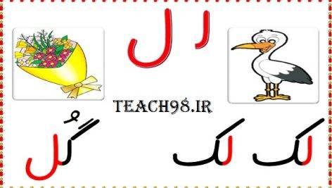 آموزش نشانه ل-فارسی اول دبستان