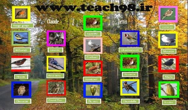 پاورپوینت آموزشی صدای پرندگان