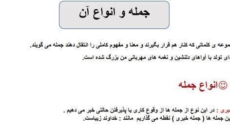 نکات دستوری درس به درس فارسی-ششم دبستان